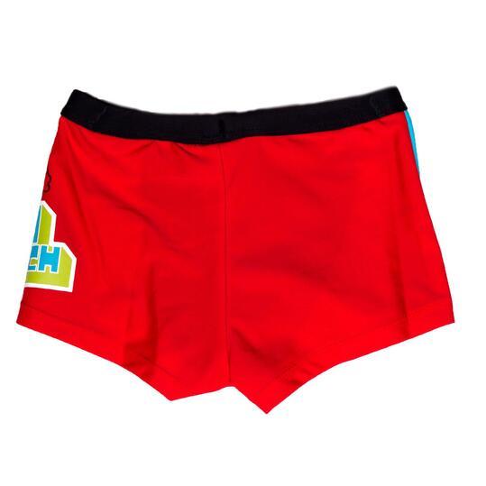 Bañador niño natación PARAQUA Rojo (2-8)