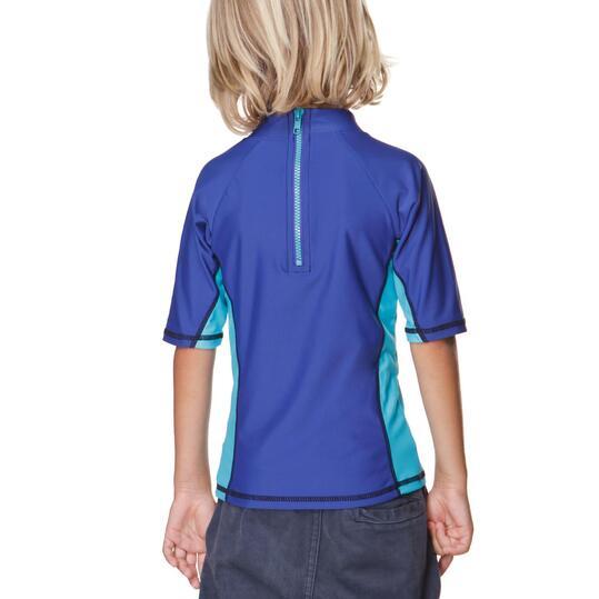 Camiseta Natación PARAQUA Niña Azul (2-8)