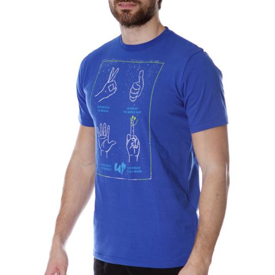 Camiseta UP Stamps Mano Azul Hombre