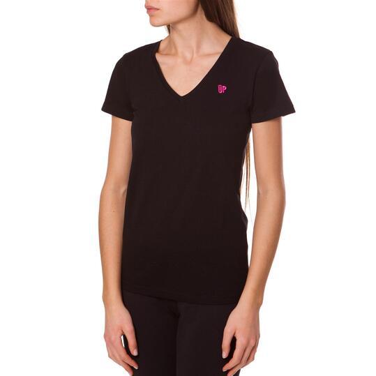 Camiseta UP Basics Negro Mujer