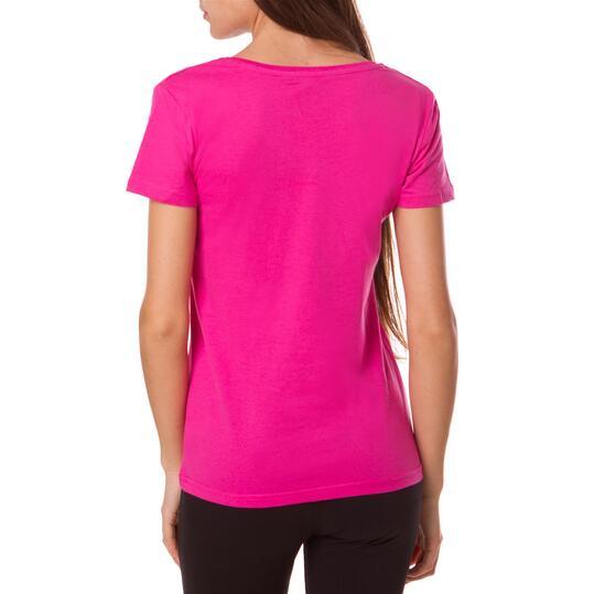 Camiseta UP Basics Rosa Mujer