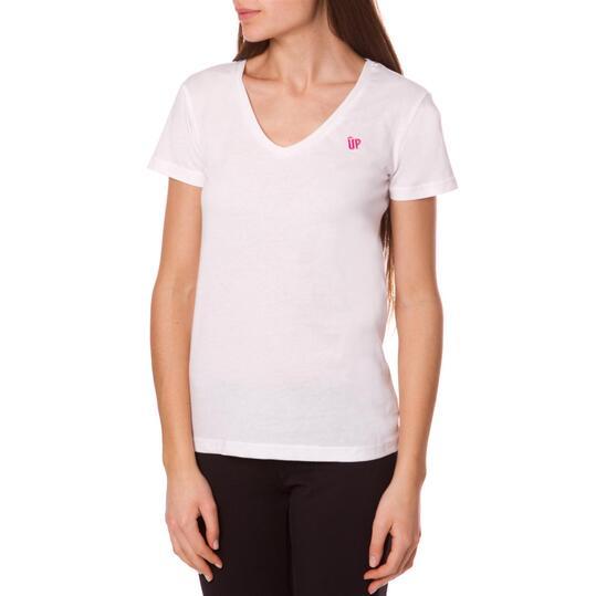 Camiseta UP Basics Blanco Mujer