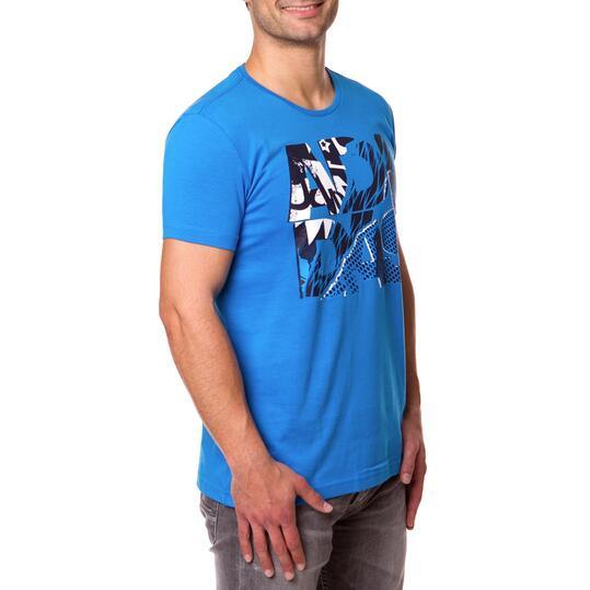 Camiseta Moda ADIDAS 90s Azul Hombre