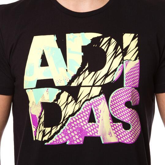 Camiseta Moda ADIDAS 90s Negro Hombre