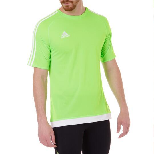 ADIDAS ESTRO Camiseta Fútbol 15 Hombre Verde flúor