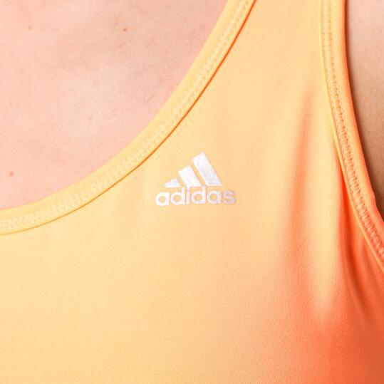 Camiseta Fitness ADIDAS Gym Mariposa Naranja Mujer