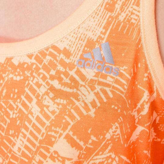 Camiseta Fitness ADIDAS Prime Tank Naranja Mujer