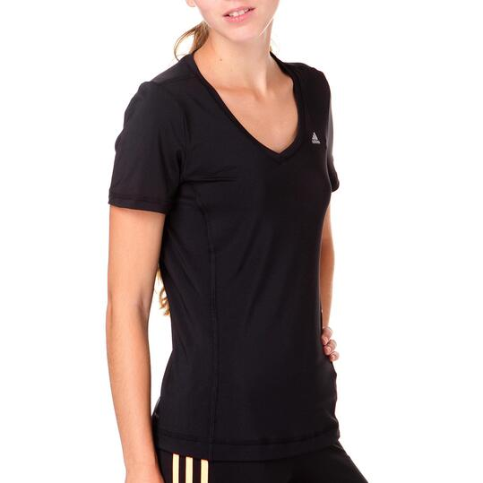 Camiseta Fitness ADIDAS Gym Negro Mujer