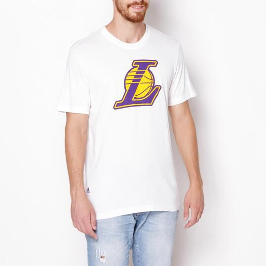 Camiseta Moda ADIDAS Lakers Logo Blanco Hombre