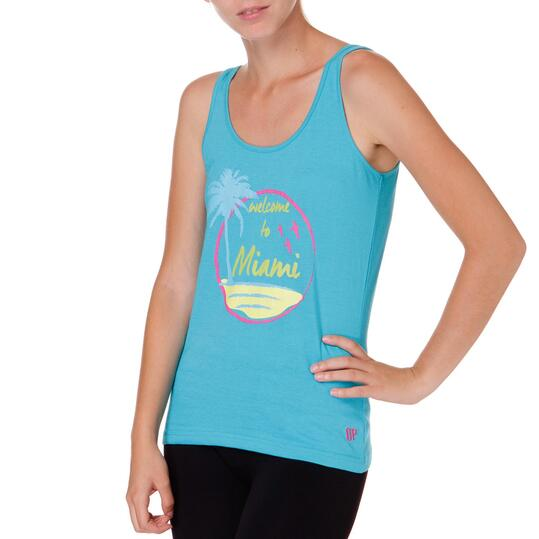 Camiseta Tirantes UP Stamps Rosa Mujer