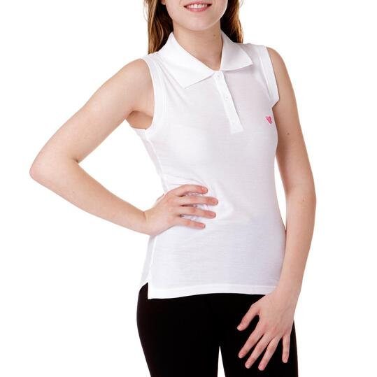 Polo UP Blanco Mujer