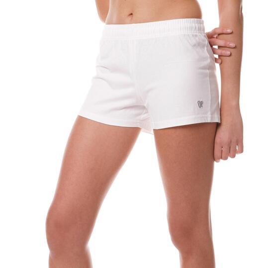 Short Moda UP Blanco Mujer