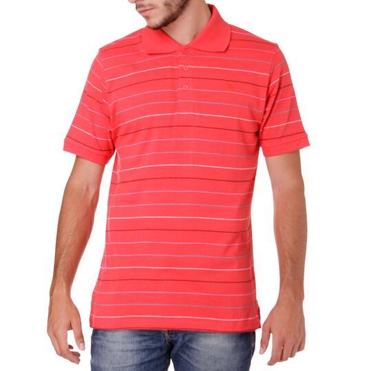 Polo Moda UP Listado Coral Hombre