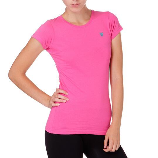 Camiseta Moda UP Basic Fucsia Mujer