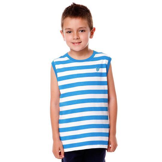 Camiseta Moda UP Rayas Pistacho Niño (2-8)