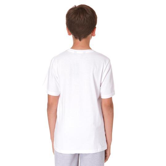 UP Camiseta Manga Corta Blanca Niño