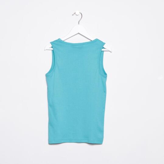 Camiseta UP Tirante Azul Turquesa Niño