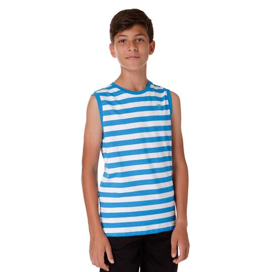 Camiseta Moda UP Rayas Azul Niño