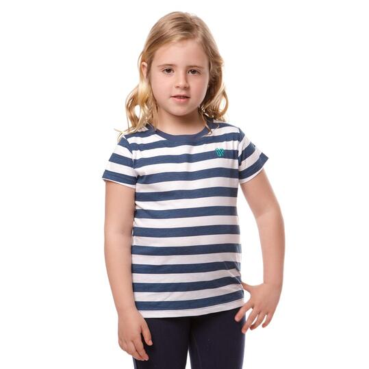 Camiseta UP Basic Denim Blanco Niña (2-8)