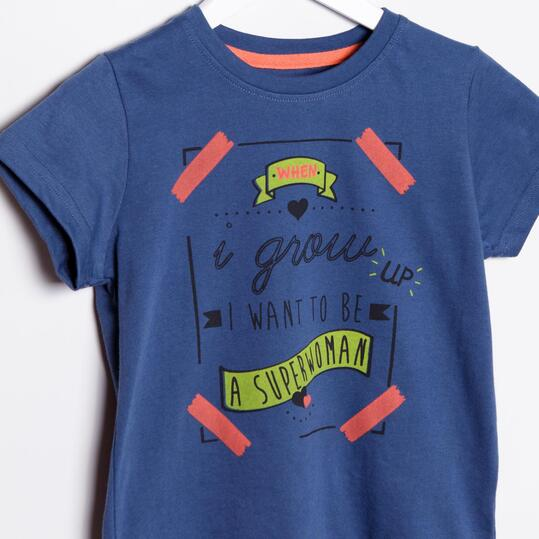 Camiseta UP Stamps Denim Niña (2-8)