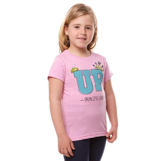 Camiseta UP Stamps Rosa Niña (2-8)