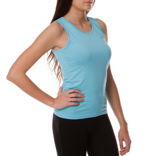 Camiseta BoRIKEN Tirante Ancho Azul Celeste Mujer