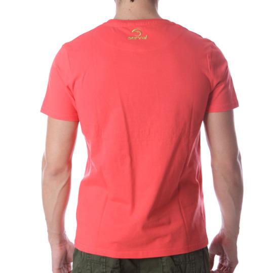 Camiseta Montaña SERVAL Coral Hombre