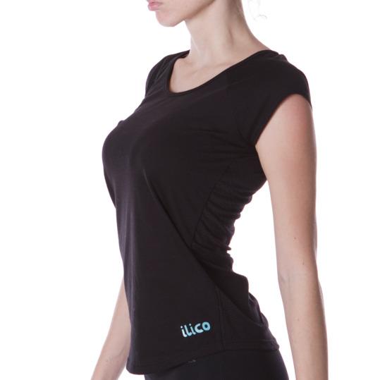 Camiseta Fitness ILICo Danza Negro Mujer