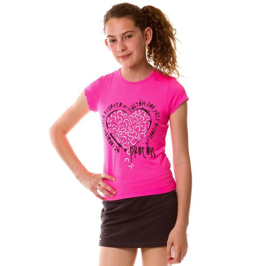 Camiseta Tenis PRoToN Fucsia Niña