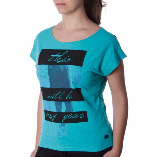 Camiseta Moda SILVER Stamps Turquesa Mujer