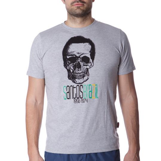 Camiseta Moda SILVER Stamps Gris Hombre