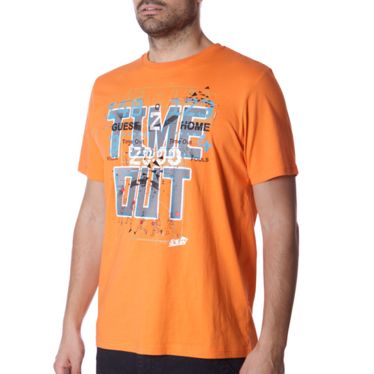 Camiseta Moda SILVER ACB Naranja Hombre