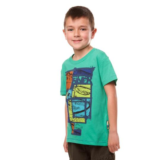 Camiseta Moda SILVER Vansy Verde Niño (2-8)
