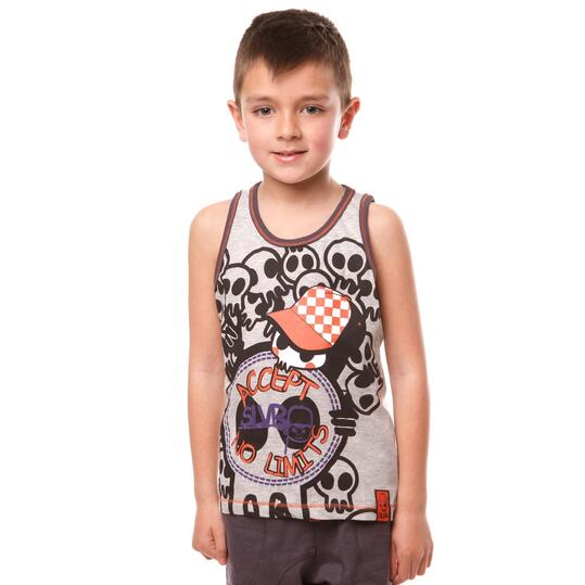 Camiseta Moda SILVER Gorras Gris Niño (2-8)