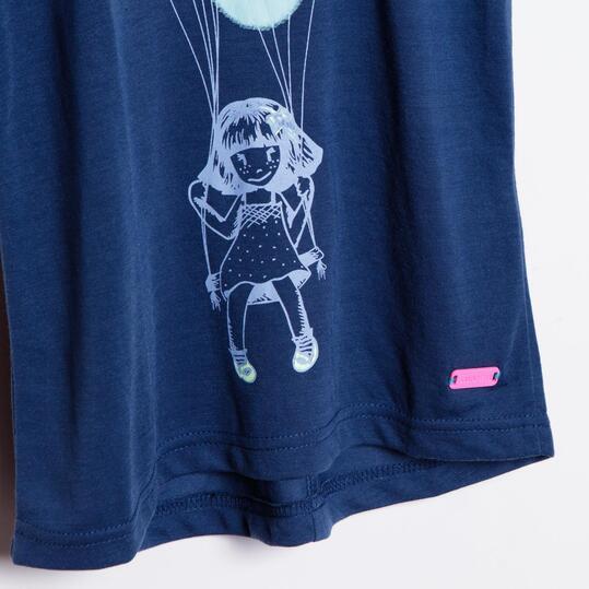 Camiseta Moda SILVER Dots Marino Niña (2-8)