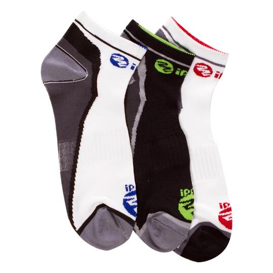 Calcetines Running IPSo Pack-3 Blanco Hombre