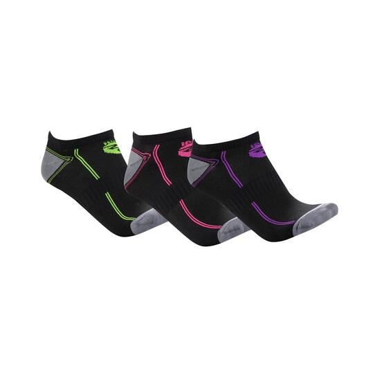 Calcetines Running IPSo Pack-3 Gris Mujer