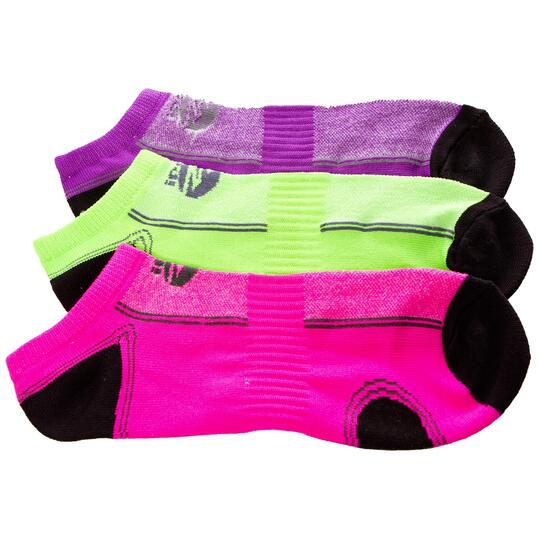 Calcetines Running IPSo Pack-3 Fuxia Mujer