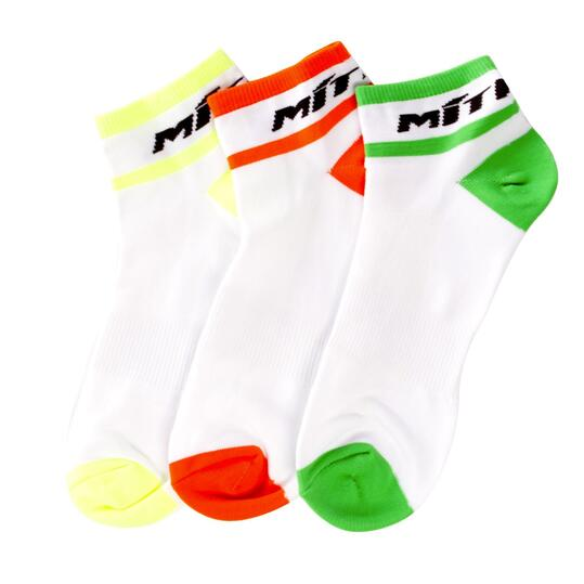 Calcetines Tobilleros Ciclismo MÍTICAL Pack 3 Blanco Hombre