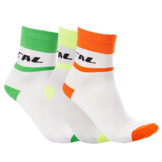 Calcetines Ciclismo Mítical Pack 3 Blanco Hombre
