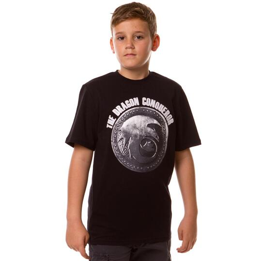 Camiseta Moda DRAGoNS Negro Niño