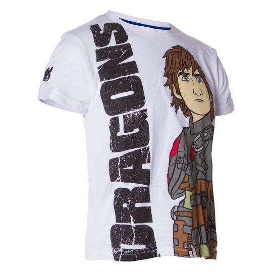 Camiseta Moda DRAGoNS Blanco Niño (2-8)