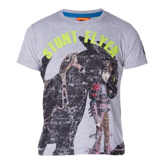 Camiseta Moda DRAGoNS Gris Vigoré Niño (2-8)