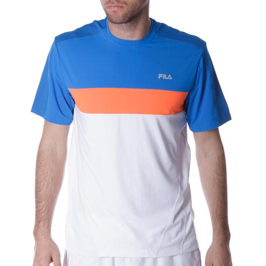 Camiseta Tenis FILA Blanco Hombre