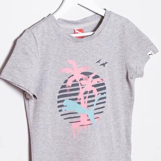 Camiseta Moda PUMA Tee Gris Vigoré Niña (8-16)