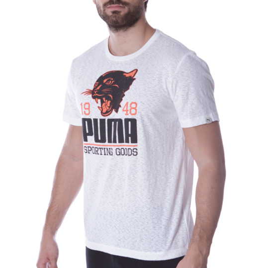 Camiseta Moda PUMA Style Blanco Hombre