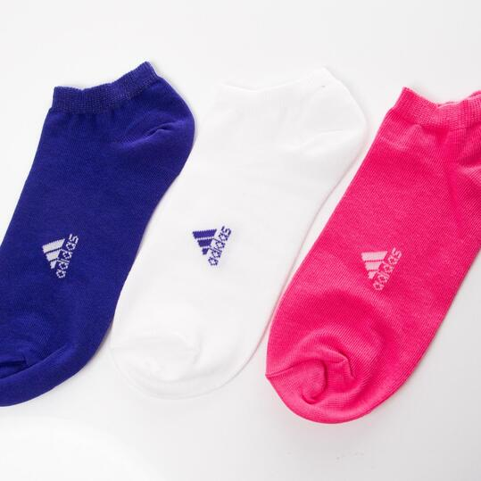 Pack 3 CalcetinesADIDAS Lin Plain Azul Mujer