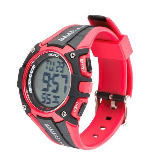 Reloj Moda SILVER Rojo Hombre