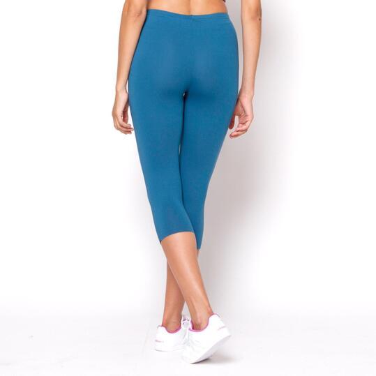 ILICO Mallas Pirata Fitness Azul Mujer