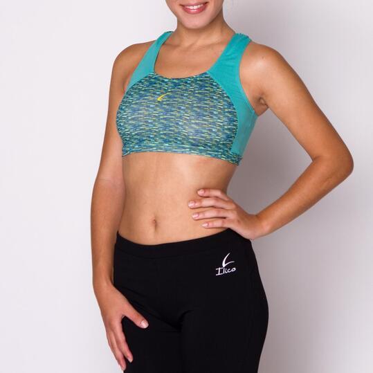 ILICO Sujetador Deportivo Verde Mujer